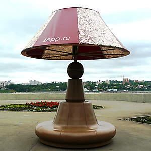Гигантская лампа-абажур.
